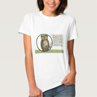 a wise old owl t shirts