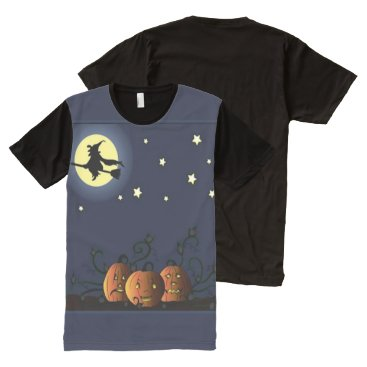 Halloween Themed A Witch Amongst the Stars All-Over-Print Shirt