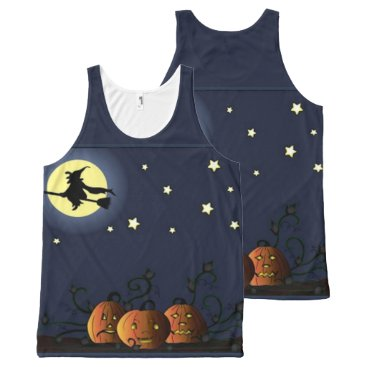 Halloween Themed A Witch Amongst the Stars All-Over-Print Tank Top