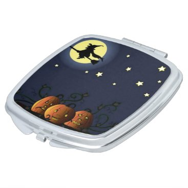 Halloween Themed A Witch Amongst the Stars Compact Mirror