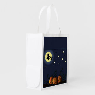 A Witch Amongst the Stars Reusable Grocery Bag