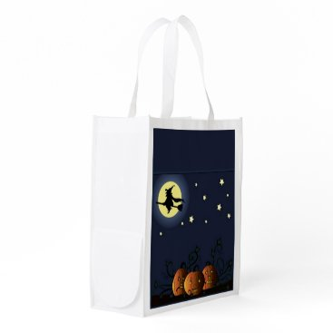 Halloween Themed A Witch Amongst the Stars Reusable Grocery Bag