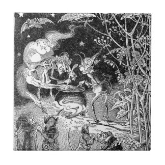 A Witch Brews for Forest Friends Ceramic Tile