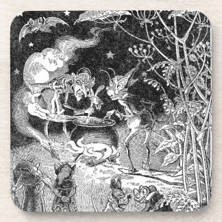 A Witch Brews for Forest Friends Drink Coaster