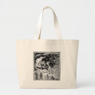 A Witch Brews for Forest Friends Large Tote Bag