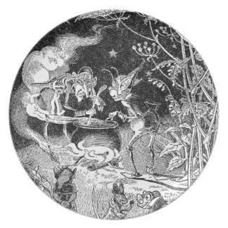 A Witch Brews for Forest Friends Melamine Plate