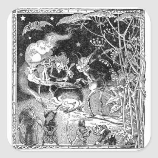 A Witch Brews for Forest Friends Square Sticker