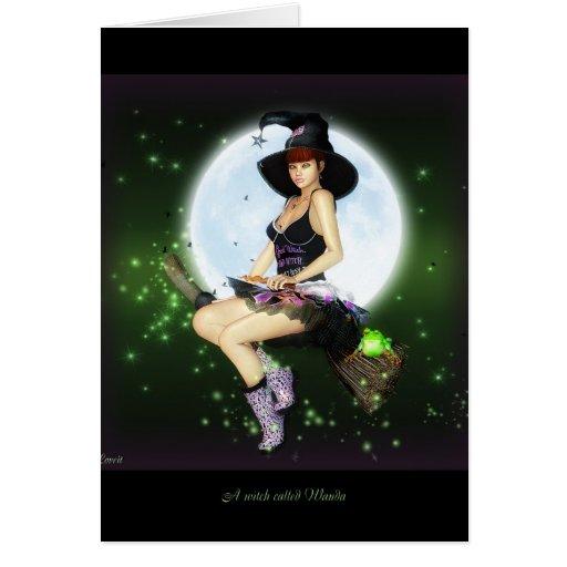 A witch called wanda card