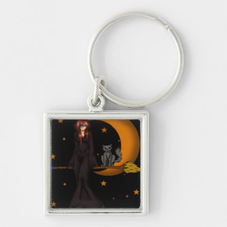 A Witch & her Kitty Key Chain