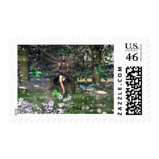 A Witch with Her Family Postage