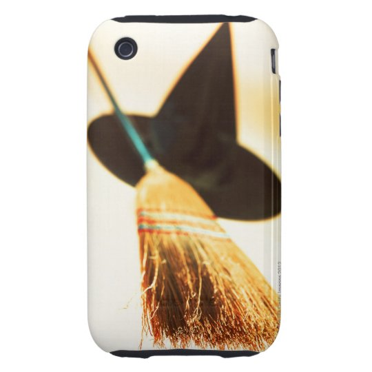 a witches hat and broom iPhone 3 tough cover