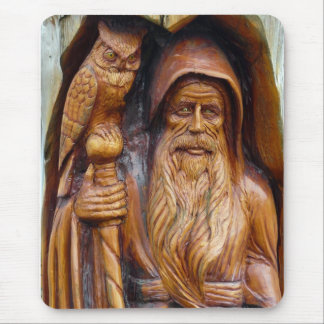A Wizard and Owl Emerge From Cavern Mouse Pad