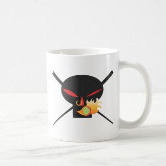 A Wod of Wasabi - Black Skull no spray Coffee Mug