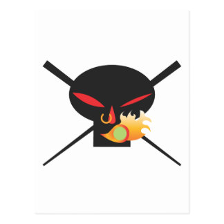 A Wod of Wasabi - Black Skull no spray Post Card