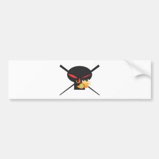 A Wod of Wasabi - Black Skull Tee Bumper Sticker