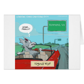 A Wolf From Virginia Funny Card