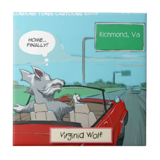 A Wolf From Virginia Funny Ceramic Tile