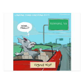 A Wolf From Virginia Funny Postcard