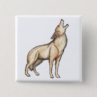 A Wolf Howls Pinback Button