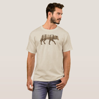 A Wolf Outdoors with Mountains and Trees T-Shirt