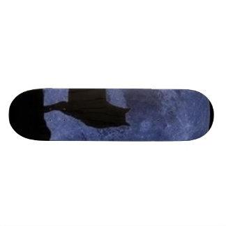 a wolf's moon skateboard
