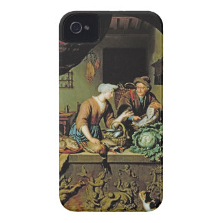 A Woman and a Fish Peddler, 1713 (oil on panel) iPhone 4 Covers