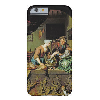 A Woman and a Fish Peddler, 1713 (oil on panel) iPhone 6 Case