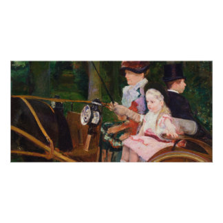 A Woman and a Girl Driving by Mary Cassatt Card