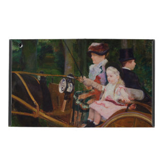 A Woman and a Girl Driving by Mary Cassatt iPad Case