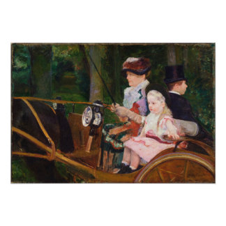 A Woman and a Girl Driving by Mary Cassatt Photo