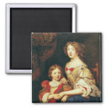 A Woman and her Son 2 Inch Square Magnet