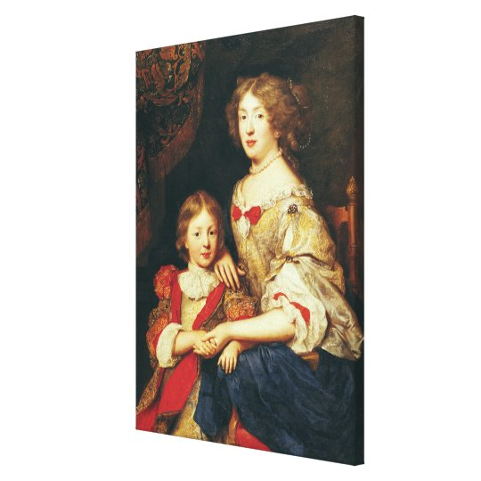 A Woman and her Son Canvas Print