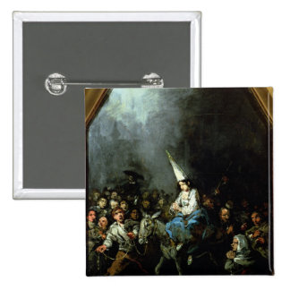 A Woman Damned by The Inquisition 2 Inch Square Button
