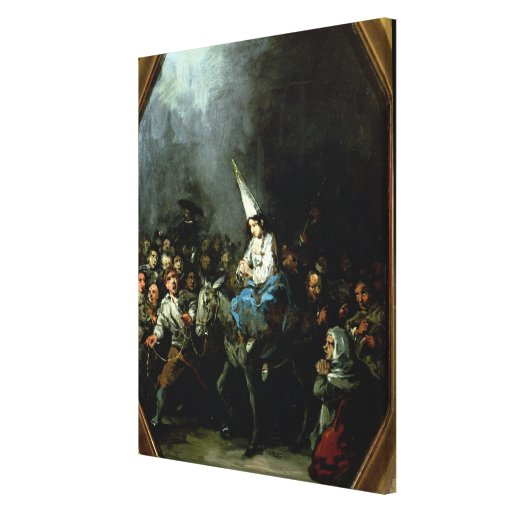 A Woman Damned by The Inquisition Gallery Wrap Canvas