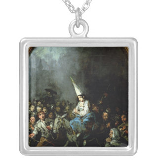 A Woman Damned by The Inquisition Silver Plated Necklace