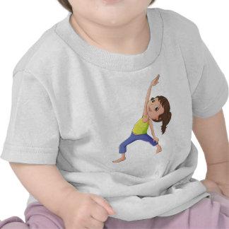 A woman doing yoga t-shirts