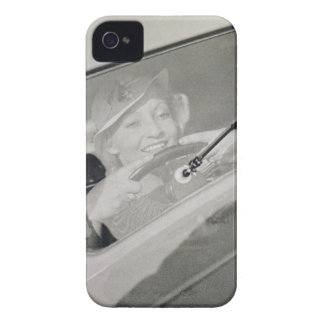 A woman driving, c.1930s (photogravure) iPhone 4 Case-Mate cases