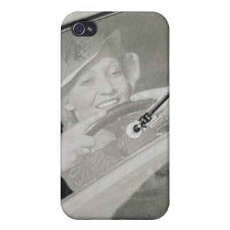 A woman driving, c.1930s (photogravure) iPhone 4 cover