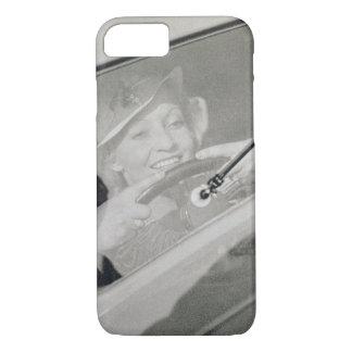 A woman driving, c.1930s (photogravure) iPhone 7 case