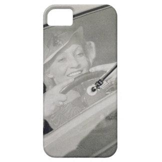 A woman driving, c.1930s (photogravure) iPhone SE/5/5s case