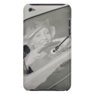 A woman driving, c.1930s (photogravure) iPod Case-Mate cases