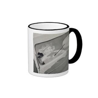 A woman driving, c.1930s (photogravure) ringer mug