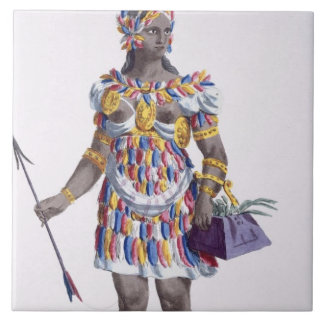 A Woman from Honduras, 1780 (coloured engraving) Ceramic Tile