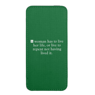 A Woman Has To Live Her Life iPhone SE/5/5s/5c Pouch