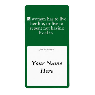 A Woman Has To Live Her Life Label