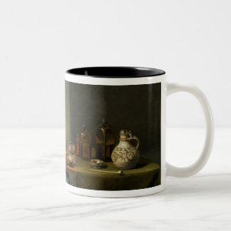 A Woman in a kitchen Two-Tone Coffee Mug