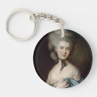 A Woman in Blue by Thomas Gainsborough Acrylic Key Chains