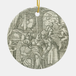 A Woman in Labour, illustration from chapter 2, Bo Ceramic Ornament