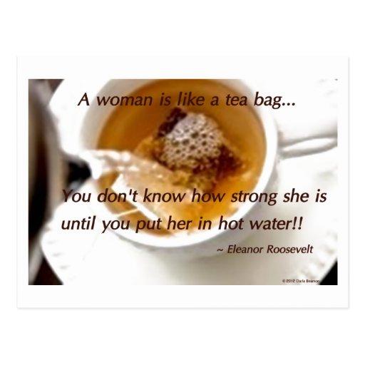 A woman is like... postcard