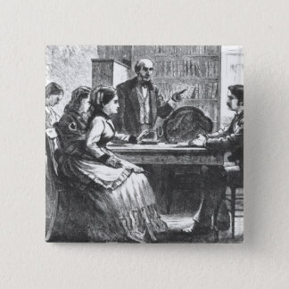 A woman negotiates with a factory manager, assiste button
